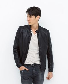 9f899a73 PERFORATED JACKET-Look Leather-Jackets-MAN-SALE   ZARA United States Zara