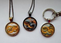 Neverending Story Auryn Necklace pendant keychain jewelry