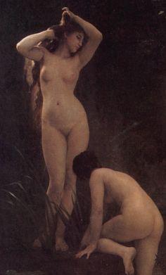 William-Adolphe Bouguereau, The Nymphaeum (1884), Details