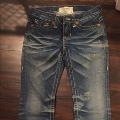"""Big Star Jeans! Like new without tags. Big Star """"Nico"""" jeans size 24R. Vintage medium wash and white piping. Fit is true to size. They're such a fun pair of jeans and totally hipster! Big Star Jeans Straight Leg"""