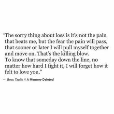 Beau Taplin | A Memory Deleted