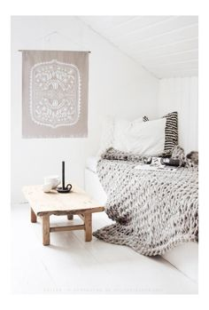 Linen Wall hanging - via DTLL.