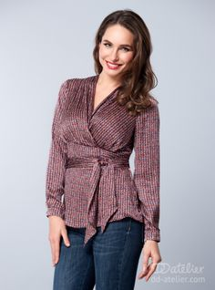 Silk Blouse Tabitha, for a big bust features a roomy bust and a flattering wrap around front that will draw attention downwards. Its soft silk construction won't constrict movement either, and when you feel comfortable you look great.