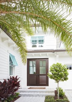 Shutters Exterior, Blue Shutters, House Color Schemes, Beachfront House, Cottage Homes, Cottage House Exterior, Beach House Exterior, Front Door, Exterior Doors
