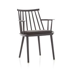 Union Charcoal Dining Arm Chair with Sunbrella ® Cushion  | Crate and Barrel