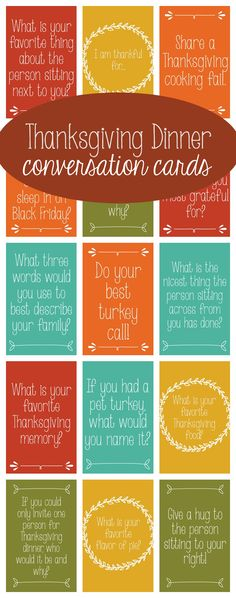 Get the banter going around the table with these Thanksgiving Dinner Conversation Starters!