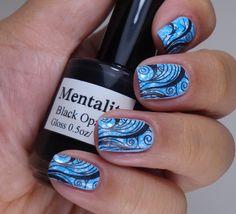 stamping nail art Love the design! Get Nails, Love Nails, Hair And Nails, Simple Nail Art Designs, Easy Nail Art, Pretty Nail Art, Beautiful Nail Art, Manicure, Fingernail Designs
