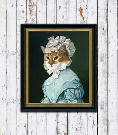 """""""Ritratto Gatta Rossa"""" ispirato ad un dipinto di Jensen (1824) - di Chiara-Cappelletti via it.dawanda.com  #cats"""