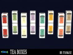 Tea Boxes at Tankuz Sims4 via Sims 4 Updates