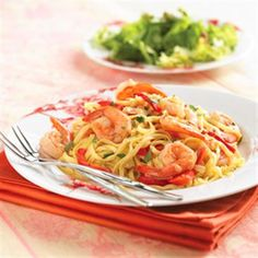 Shrimp and Sweet Red Pepper #Linguine #pasta