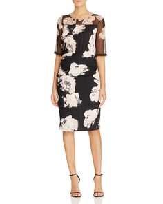 Tracy Reese Floral Print Dress
