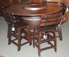 Whiskey Barrel Pub Table