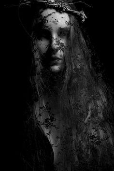 Dark dark photography, white art, black and white, under the veil, black mo Black Mode, Under The Veil, Dark Photography, Foto Art, Dark Beauty, Dark Fantasy, Macabre, Occult, Dark Art