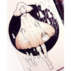 【ladowska】さんのInstagramをピンしています。 《Day 2 ー #mushrooms Still using @relseiy's themes  #reltober  Make sure to check final sale in my shop at ladowska.storenvy.com  Thanks  #sketcheveryday #sketch #inktober #inktober2016 #sketchbook #pen #unipin #copic #copicmarkers #traditionalart #cute #sweet #girl #animegirl #anime #manga #oc #characterdesign #mangagirl #illustration #flowers #illustrationart #kawaii #漫画 #アニメ #スケッチ #桜 #かわいい》