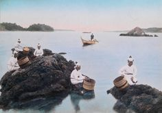 Picture of pearl divers in Japan PHOTOGRAPH BY ELIZA SCIDMORE