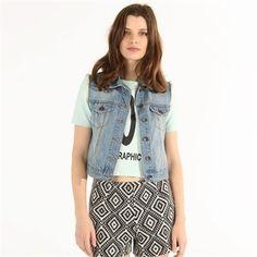 Pimkie Veste en jean sans manches sur shopstyle.fr