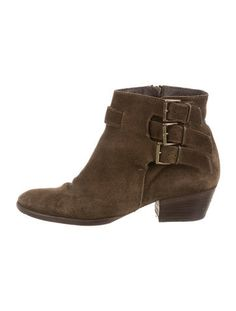Maje Suede Round-Toe Booties
