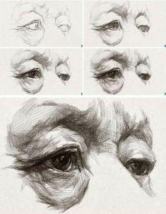 Drawing Lessons, Life Drawing, Drawing Eyes, Figure Drawing, Painting & Drawing, Drawing Of An Eye, Anatomy Sketches, Anatomy Drawing, Anatomy Art