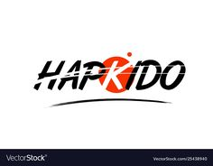 Hapkido word text logo icon with red circle design , Hapkido, Circle Design, Vector Free, Company Logo, Ads, Logos, Logo, Aikido