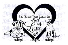 Adopt a DOG SVG Decal Digital St Bernard Boxer Vinyl Sticker Download Dog Puppy Cricut PNG by PickledDesigns on Etsy
