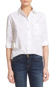 Equipment 'Kenton' Embroidered Shirt available at #Nordstrom