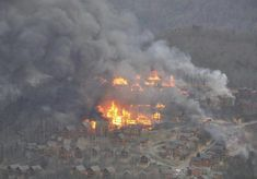 pigeon forge cabins fire