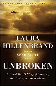Unbroken by Laura Hillenbrand. WWII non-fiction about an Olympic runner turned military pilot who is shot down and survives at sea on a life raft for weeks before being captured by the Japanese as POW.