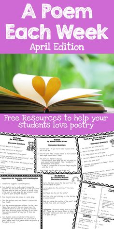 FREE - Looking for a quick and easy way to get your students loving poetry this month?  Download these FREE discussion questions and activities to get your students into poetry month!