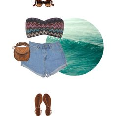 """""""Regina Wears Bandeau"""" by reginaevangelista on Polyvore Ootd, Beach, Casual, Polyvore, How To Wear, Outfits, Style, Swag, Suits"""