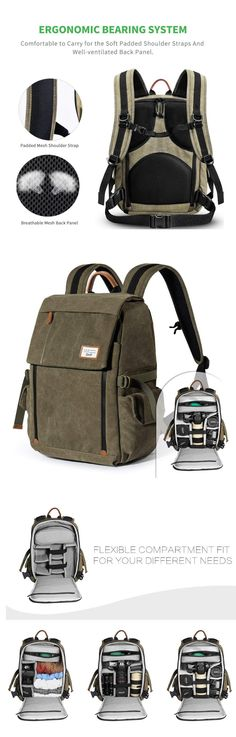 53c04cfac9 Zecti Camera Backpack Waterproof Canvas Professional Camera Bag for Laptop  and Other Digital Camera Accessories with