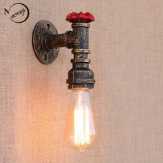 Steam punk Loft Industrial iron rust Water pipe retro wall lamps Vintage E27 LED sconce wall lights for living room bedroom bar-in Wall Lamps from Lights & Lighting on Aliexpress.com | Alibaba Group