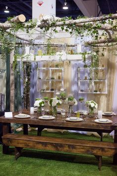 Flora Couture by Floral 2000 http://www.floral2000.com/ booth was stunning in a subtle and delicate style.  Their display was very inviting and beautiful. With so many tasteful touches...I wanted to be at this Las Vegas Wedding. Exhibit at Bridal Spectacular Show http://www.bridalspectacular.com/ Photo by Adam Frazier Photography http://www.adam-frazier.com/
