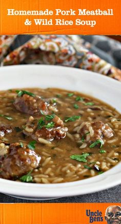 When you think of healthy meal ideas, they're usually not as flavorful as this one for Homemade Pork Meatball and Wild Rice Soup. Check out this recipe to see how easy it is to combine UNCLE BEN'S® Long Grain & Wild Original Recipe, beef broth, and homemade meatballs to create a savory, healthy comfort food dish that can be packed for lunch or served for dinner. You can find all the simple ingredients you need at Target.