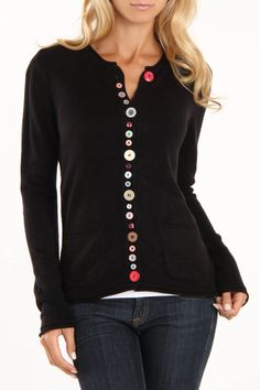 Bonnie and Bill Ramsey Sweater In Black -
