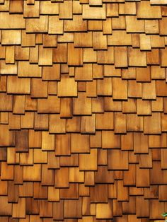 Wood Shingle Siding Repeating Pattern