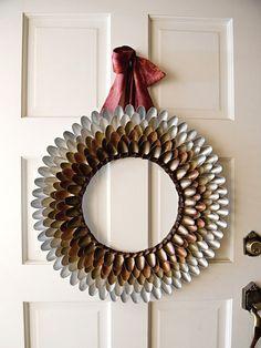 Metallic Spoon Wreath