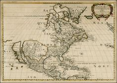Map of North America, 1650
