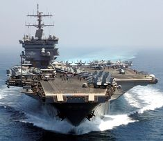 USS Enterprise formerly is a retired United States Navy aircraft carrier. She was the world's first nuclear-powered aircraft carrier and. Us Navy Aircraft, Navy Aircraft Carrier, Military Aircraft, Navy Military, Military Life, Military History, Reactor Nuclear, Uss Enterprise Cvn 65, Navy Carriers