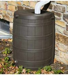 Plastic Rain Barrel with Spigot - Durable & weather-resistant