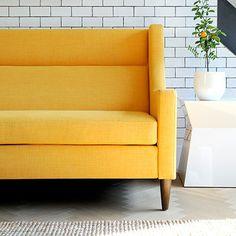 Carmichael Loft Sofa in Laurentian Citrine design by Gus Modern // Burke Decor