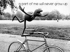Wat is dat toch met fietsen en niet willen opgroeien?