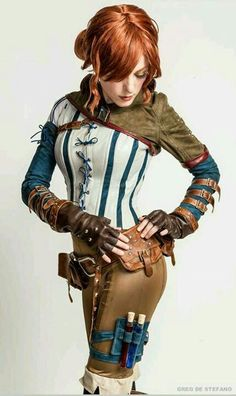 """sci-figirls: """"whybecosplay: """" Witcher Triss cosplay Cosplay by Jessica Dru Costume by Manzi DeYoung Photos by Greg De Stefano. """" Triss Merigold cosplay, from The Witcher"""" Steampunk Cosplay, Steampunk Mode, Style Steampunk, Victorian Steampunk, Steampunk Clothing, Steampunk Assassin, Steampunk Couture, Steampunk Wedding, Gothic Clothing"""