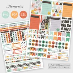 Free Printable Photography Inspired Planner Stickers {PDF, PNG and Silhouette files} from lifewithmayra