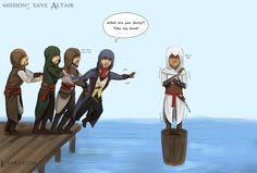 AC Unity Co-op: save Altair by Lapruccia on DeviantArt Dark Souls, Resident Evil, Skyrim, Fandoms, Assassins Creed Comic, Assassian Creed, Assassin's Creed Hidden Blade, Sherlock, Assassin's Creed Wallpaper