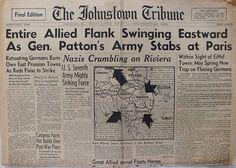 The Johnstown Tribune - World War II: August 18, 1944: Entire Allied Flank Swinging East...