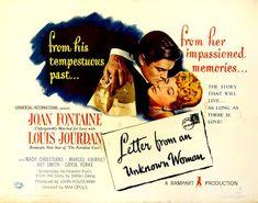LAS PELÍCULAS QUE YO VEO: una página de cine: CARTA DE UNA DESCONOCIDA (Letter from a Unknown Woman, 1948), de Max Ophüls: Grandes películas