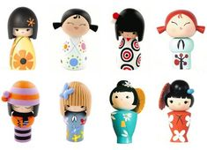 momiji friendship dolls - perfect on the shelf mixed with pots of brightly coloured pencils and a classic story book or two :)