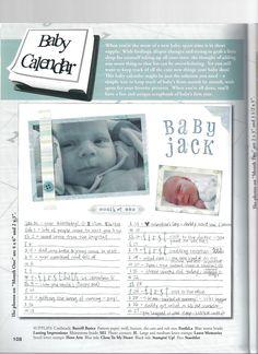 baby calendar.