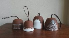 Ceramic Bells | Gopi Shah  These sweet little bells were made in Austin, TX