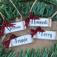 Personalized Ornament Family Customized Ornament Family Personalized Wooden Ornament Wooden Happy New Year Dollar Tree Christmas, Dollar Tree Crafts, Diy Christmas Gifts, Christmas Projects, Holiday Crafts, Christmas Time, Diy Christmas Home Decor, Christmas Crafts For Adults, Christmas Crafts To Make